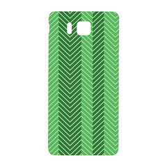 Green Herringbone Pattern Background Wallpaper Samsung Galaxy Alpha Hardshell Back Case