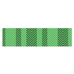 Green Herringbone Pattern Background Wallpaper Satin Scarf (Oblong)