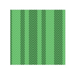 Green Herringbone Pattern Background Wallpaper Small Satin Scarf (Square)