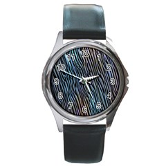 Abstract Background Wallpaper Round Metal Watch