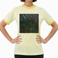 Abstract Background Wallpaper Women s Fitted Ringer T Shirts