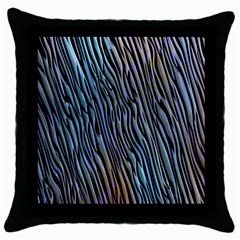 Abstract Background Wallpaper Throw Pillow Case (Black)