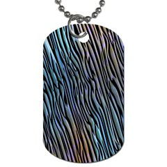 Abstract Background Wallpaper Dog Tag (One Side)