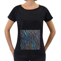 Abstract Background Wallpaper Women s Loose-Fit T-Shirt (Black)