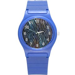 Abstract Background Wallpaper Round Plastic Sport Watch (S)