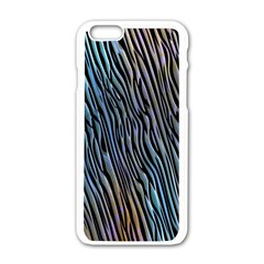 Abstract Background Wallpaper Apple iPhone 6/6S White Enamel Case