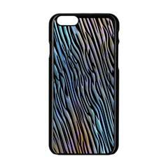 Abstract Background Wallpaper Apple iPhone 6/6S Black Enamel Case