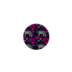 Colorful Elephants Love Background 1  Mini Buttons
