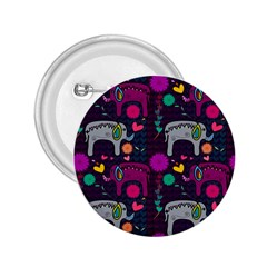 Colorful Elephants Love Background 2.25  Buttons