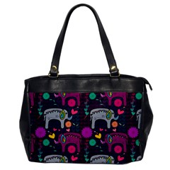 Colorful Elephants Love Background Office Handbags