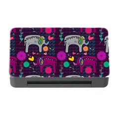 Colorful Elephants Love Background Memory Card Reader with CF