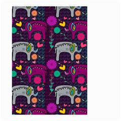Colorful Elephants Love Background Small Garden Flag (Two Sides)