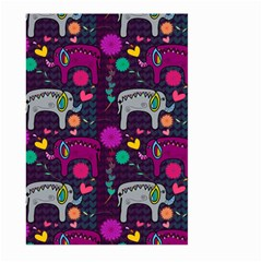 Colorful Elephants Love Background Large Garden Flag (Two Sides)