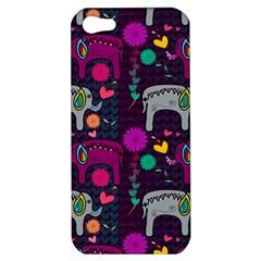 Colorful Elephants Love Background Apple iPhone 5 Hardshell Case
