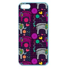 Colorful Elephants Love Background Apple Seamless iPhone 5 Case (Color)