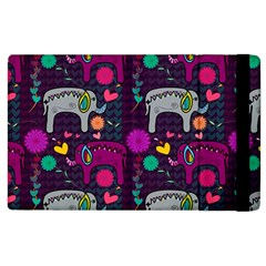 Colorful Elephants Love Background Apple iPad 2 Flip Case
