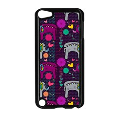 Colorful Elephants Love Background Apple Ipod Touch 5 Case (black)
