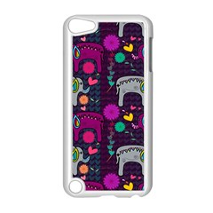 Colorful Elephants Love Background Apple iPod Touch 5 Case (White)