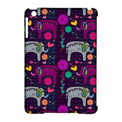 Colorful Elephants Love Background Apple iPad Mini Hardshell Case (Compatible with Smart Cover)