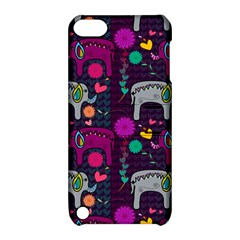 Colorful Elephants Love Background Apple iPod Touch 5 Hardshell Case with Stand
