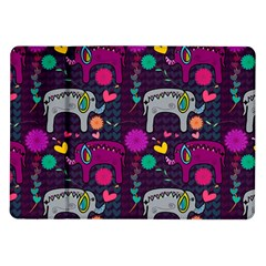 Colorful Elephants Love Background Samsung Galaxy Tab 10.1  P7500 Flip Case