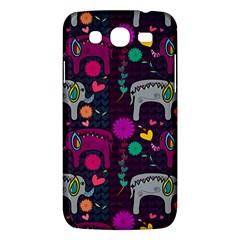 Colorful Elephants Love Background Samsung Galaxy Mega 5.8 I9152 Hardshell Case
