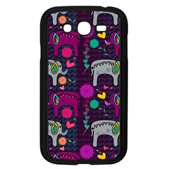 Colorful Elephants Love Background Samsung Galaxy Grand DUOS I9082 Case (Black)