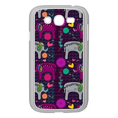 Colorful Elephants Love Background Samsung Galaxy Grand Duos I9082 Case (white)