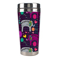 Colorful Elephants Love Background Stainless Steel Travel Tumblers