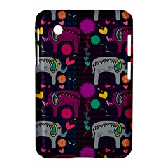 Colorful Elephants Love Background Samsung Galaxy Tab 2 (7 ) P3100 Hardshell Case