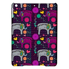 Colorful Elephants Love Background iPad Air Hardshell Cases