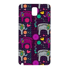 Colorful Elephants Love Background Samsung Galaxy Note 3 N9005 Hardshell Back Case