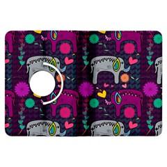 Colorful Elephants Love Background Kindle Fire Hdx Flip 360 Case