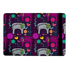 Colorful Elephants Love Background Samsung Galaxy Tab Pro 10 1  Flip Case