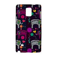 Colorful Elephants Love Background Samsung Galaxy Note 4 Hardshell Case