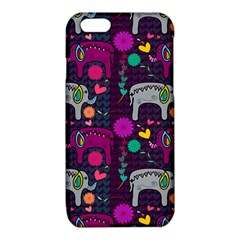 Colorful Elephants Love Background iPhone 6/6S TPU Case