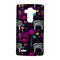 Colorful Elephants Love Background Lg G4 Hardshell Case
