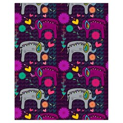 Colorful Elephants Love Background Drawstring Bag (small)