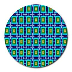 Seamless Background Wallpaper Pattern Round Mousepads