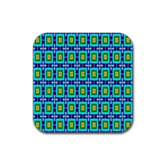 Seamless Background Wallpaper Pattern Rubber Coaster (square)