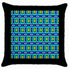 Seamless Background Wallpaper Pattern Throw Pillow Case (black)