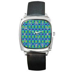 Seamless Background Wallpaper Pattern Square Metal Watch