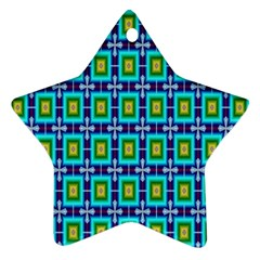 Seamless Background Wallpaper Pattern Star Ornament (two Sides)