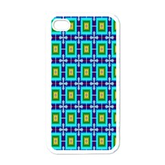 Seamless Background Wallpaper Pattern Apple iPhone 4 Case (White)