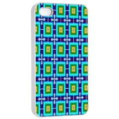 Seamless Background Wallpaper Pattern Apple iPhone 4/4s Seamless Case (White)