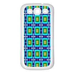 Seamless Background Wallpaper Pattern Samsung Galaxy S3 Back Case (White)