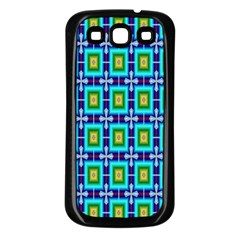 Seamless Background Wallpaper Pattern Samsung Galaxy S3 Back Case (Black)