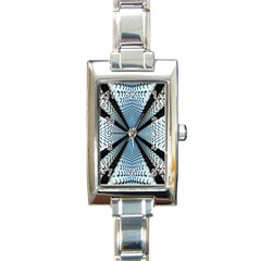 Dimension Metal Abstract Obtained Through Mirroring Rectangle Italian Charm Watch