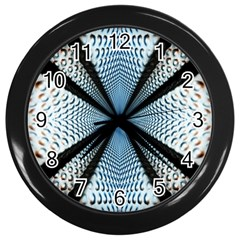 Dimension Metal Abstract Obtained Through Mirroring Wall Clocks (Black)