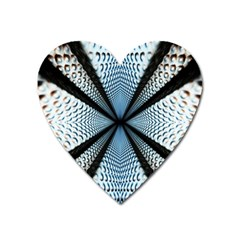 Dimension Metal Abstract Obtained Through Mirroring Heart Magnet